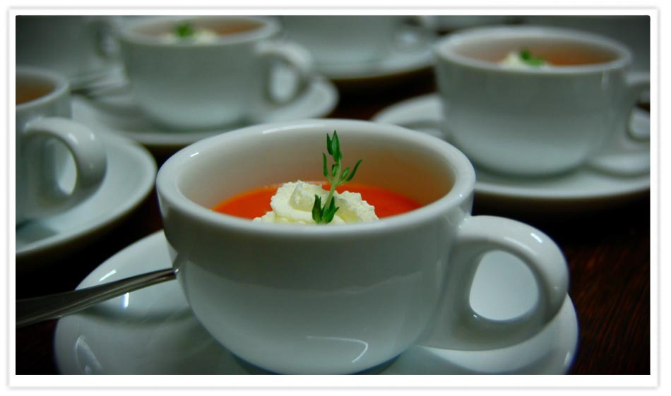 Charlie's 'Simple Tomato and Norfolk Peer Potato Summer Soup'